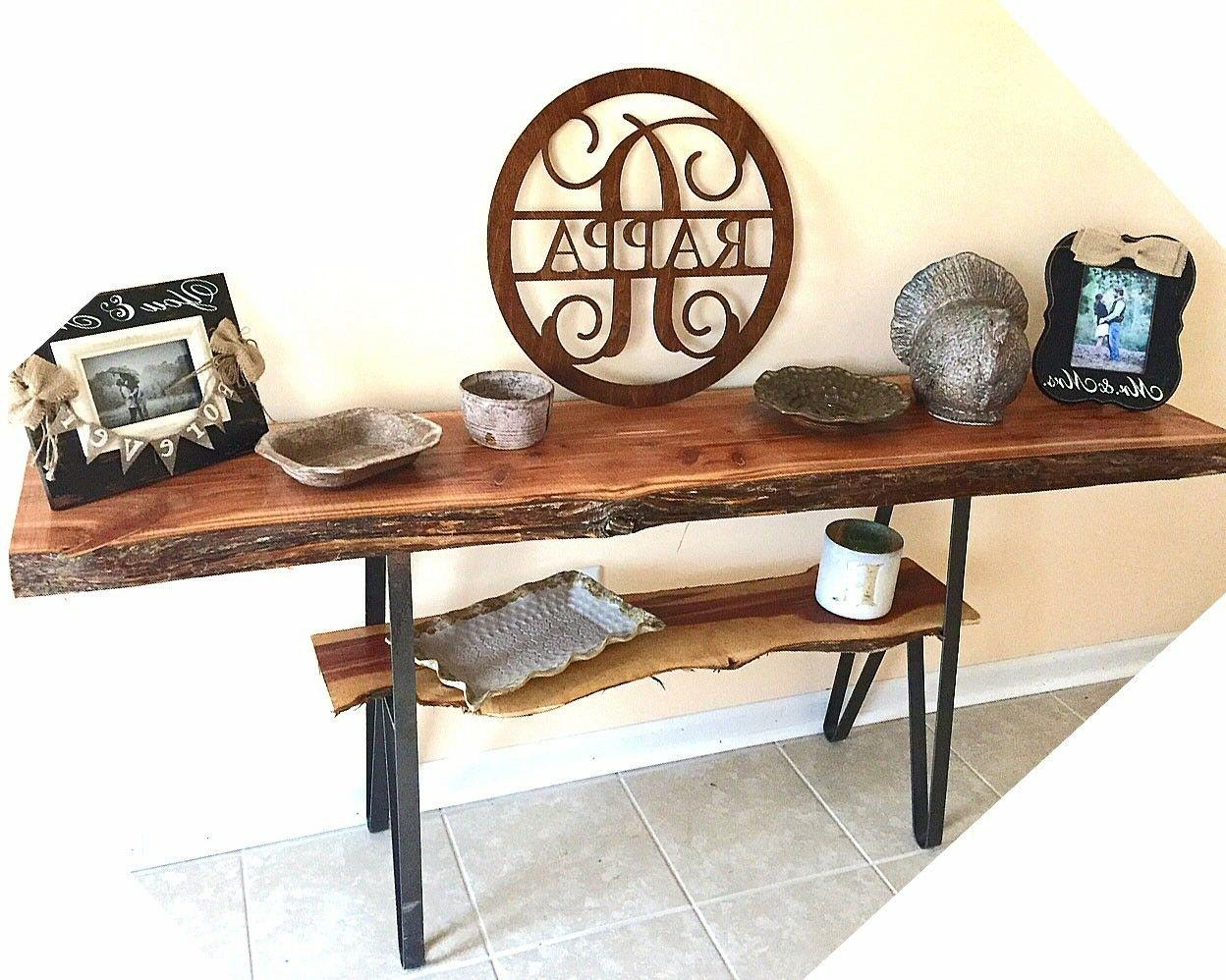 Sofa/Console Table 27.75 Entry Desk Wood 2
