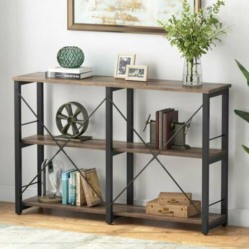 """43"""" Rustic Media Stand Entryway Living Room Console Table wi"""
