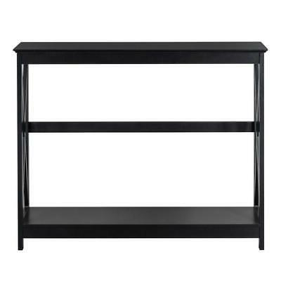 New Sofa Accent with Shelf Stand Wood Black