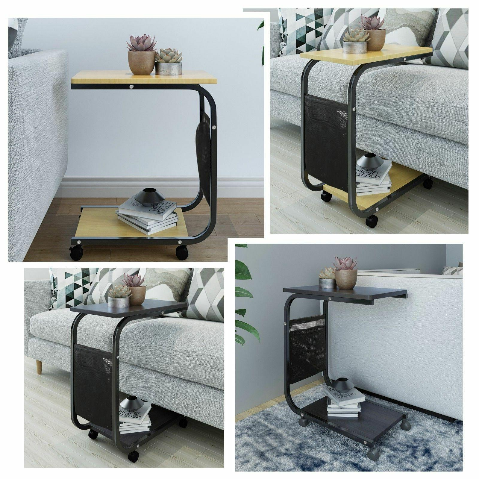 sofa side end table with storage pocket