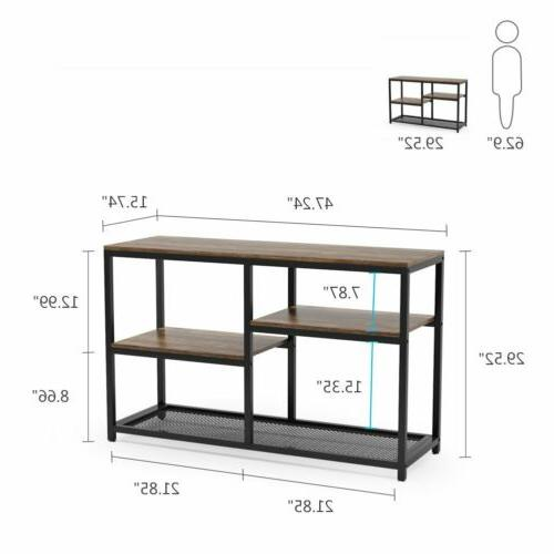 Tribesigns Console Table 4-Tier Vintage Entryway w Shelves