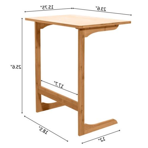 Sofa Table Laptop Side Table Wood Color