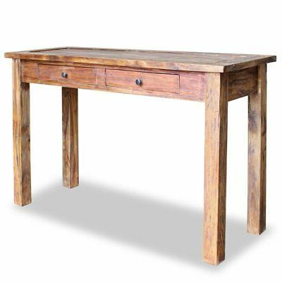 solid reclaimed wood console table 48 4