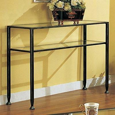 Southern Enterprises Sofa Console Table, with Distressed Finish