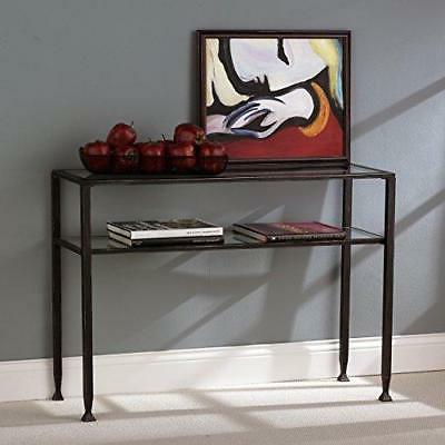 Table, Black Silver Distressed