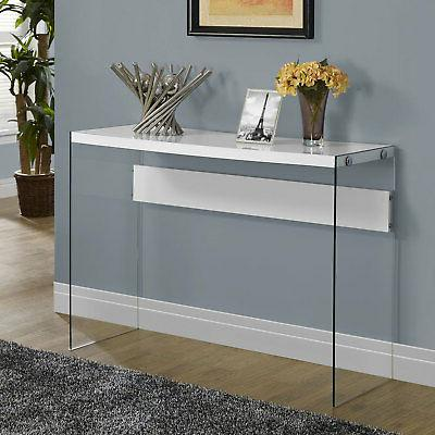 Monarch Specialties Console Table Glass