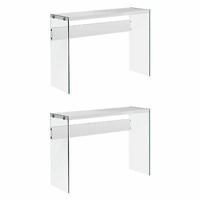 specialties contemporary accent console table w tempered