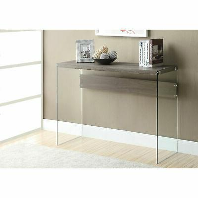 Monarch Tempered Glass Nesting Glass Console Table
