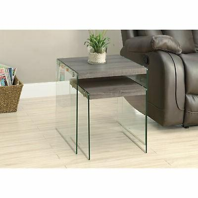 Monarch Nesting End Tables Glass Console