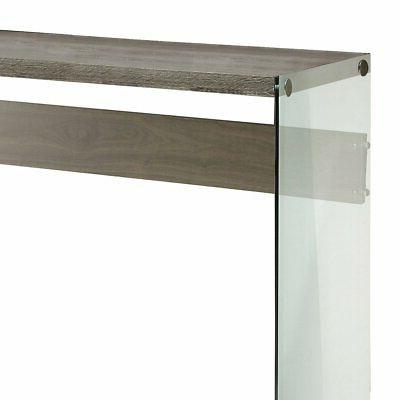 Monarch Specialties Tempered Glass Nesting Tables Glass Table