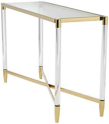 """Stefania 50"""" Wide Gold and Table"""