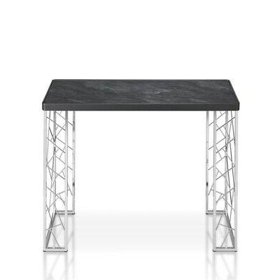 Furniture Metal Console Black and Chrome