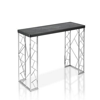stefano metal console table in black