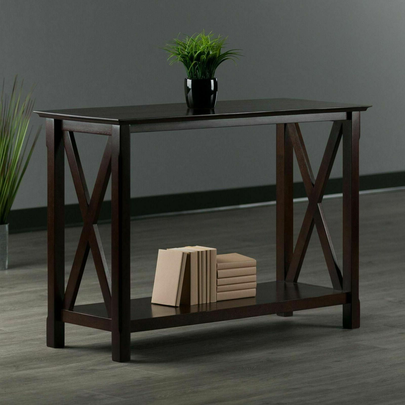 Table Winsome Xola Cappuccino Mission/Shaker Console New Modern