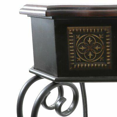 Decor Medallion Console Table