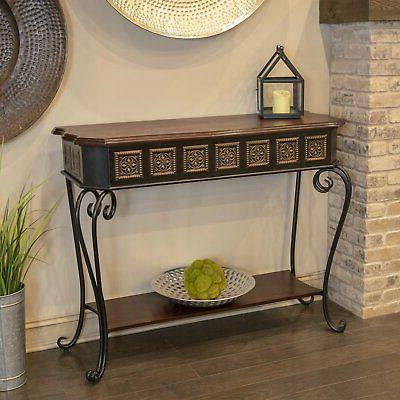 Decor Therapy Medallion Console Table