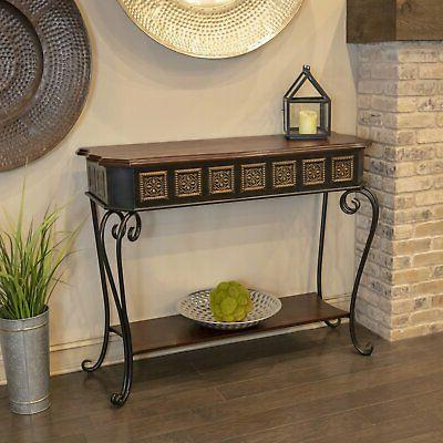 Decor Tangier Gold Medallion Console