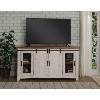 taos tv stand aged distressed
