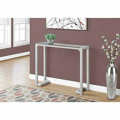 Monarch Tempered Top Console Table
