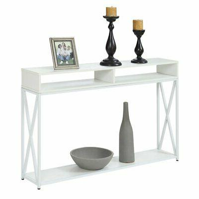 tucson deluxe 2 tier console table in