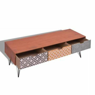 vidaXL Cabinet Drawers Side Console Table Stand Brown/Gray