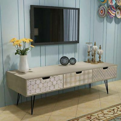vidaXL TV Cabinet Drawers Table Stand Brown/Gray