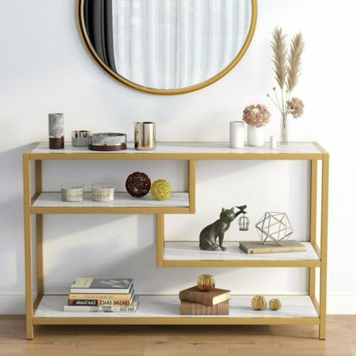 versatile hall console table stylish faux marble