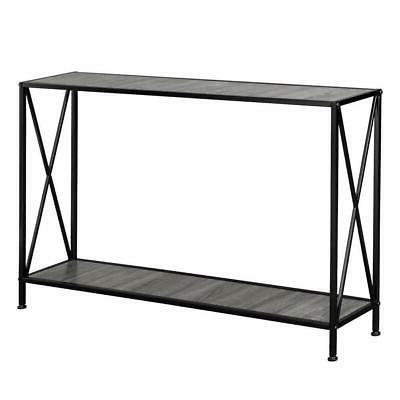 Wood Steel Console Table Table Assembly
