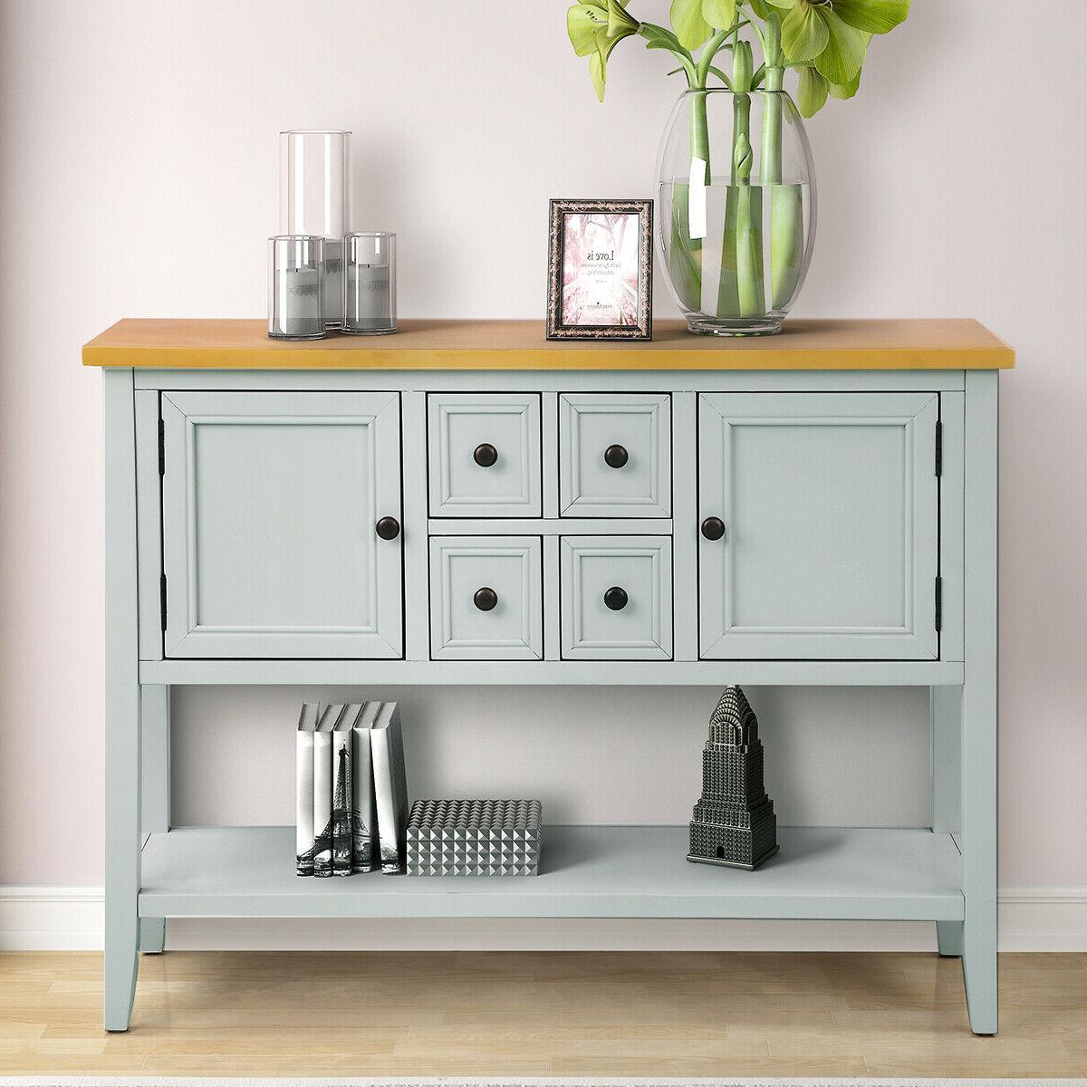 Vintage Sideboard Cabinet Console Drawer Entryway