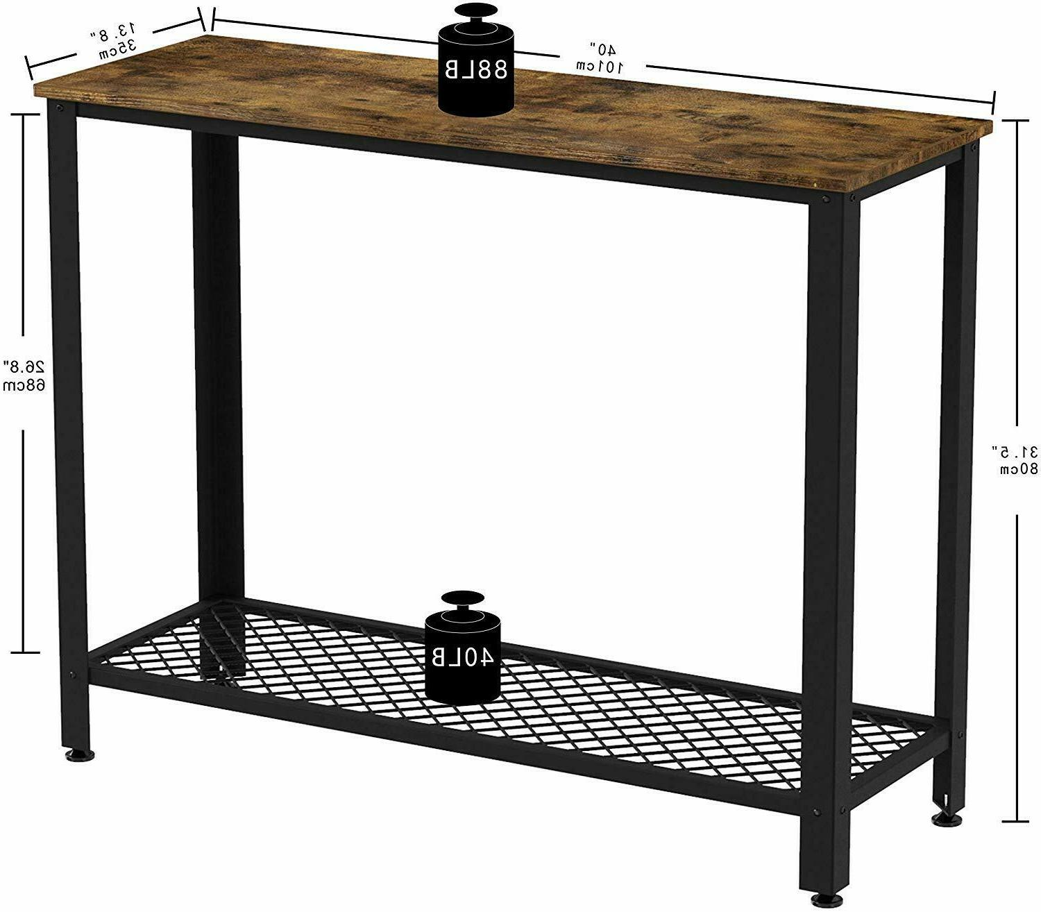IRONCK Vintage Table for Entry with Shelf Easy