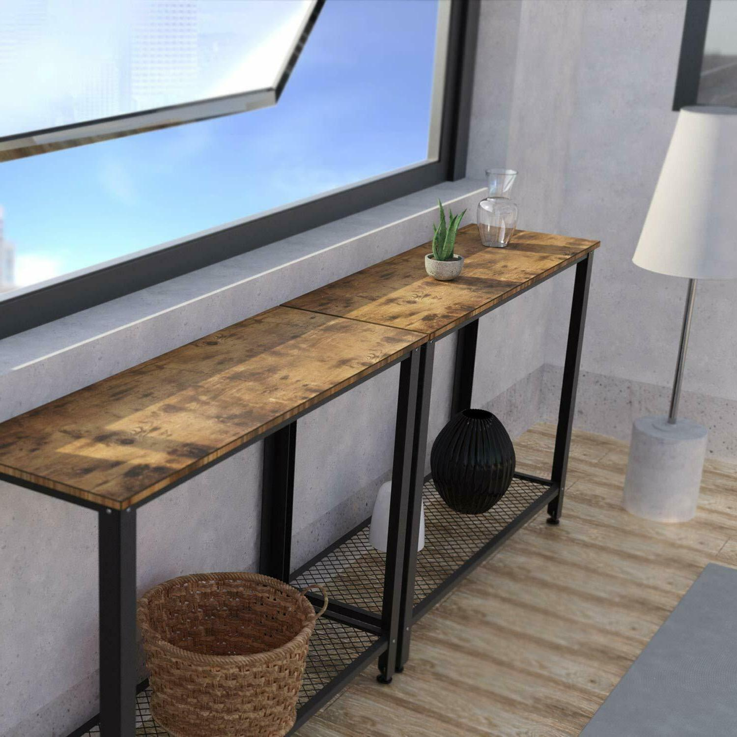IRONCK Vintage Table for with Shelf Easy