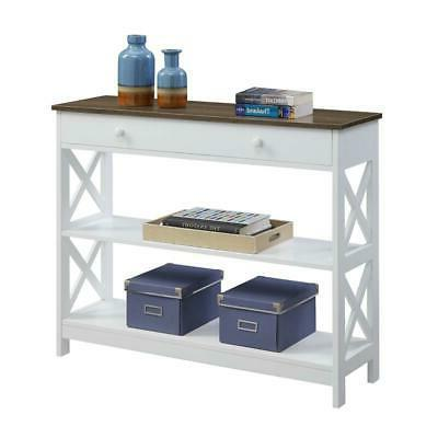 Convenience Concepts White Oxford 1 Drawer Table