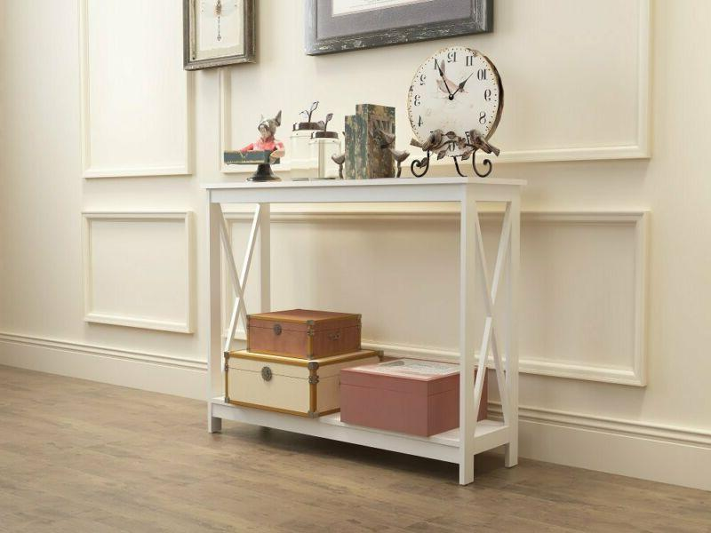 White 3-Tier X-Design Occasional Table Bookshelf