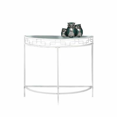 white metal hall console accent