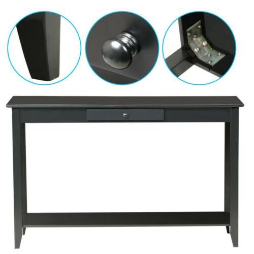 Wood Console Table Accent Shelf Stand Entryway Room