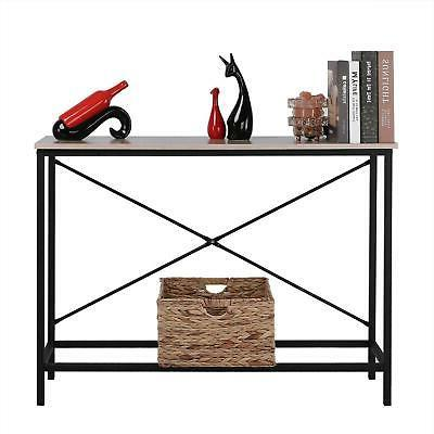 Wood Sofa Accent with Shelf Stand