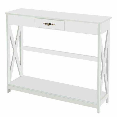 Console Accent Side Stand Sofa Hall Storage