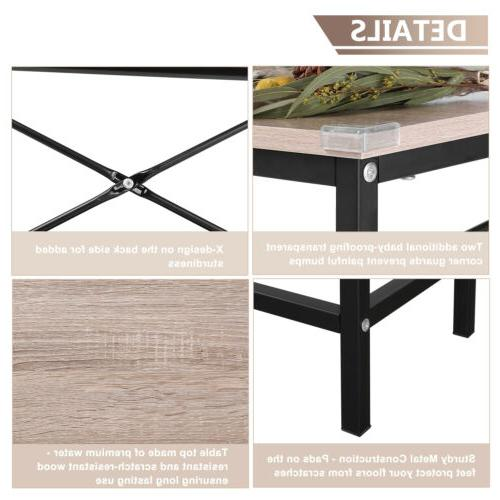 Wood Modern Sofa Accent Shelf Stand Entryway Hall Furniture