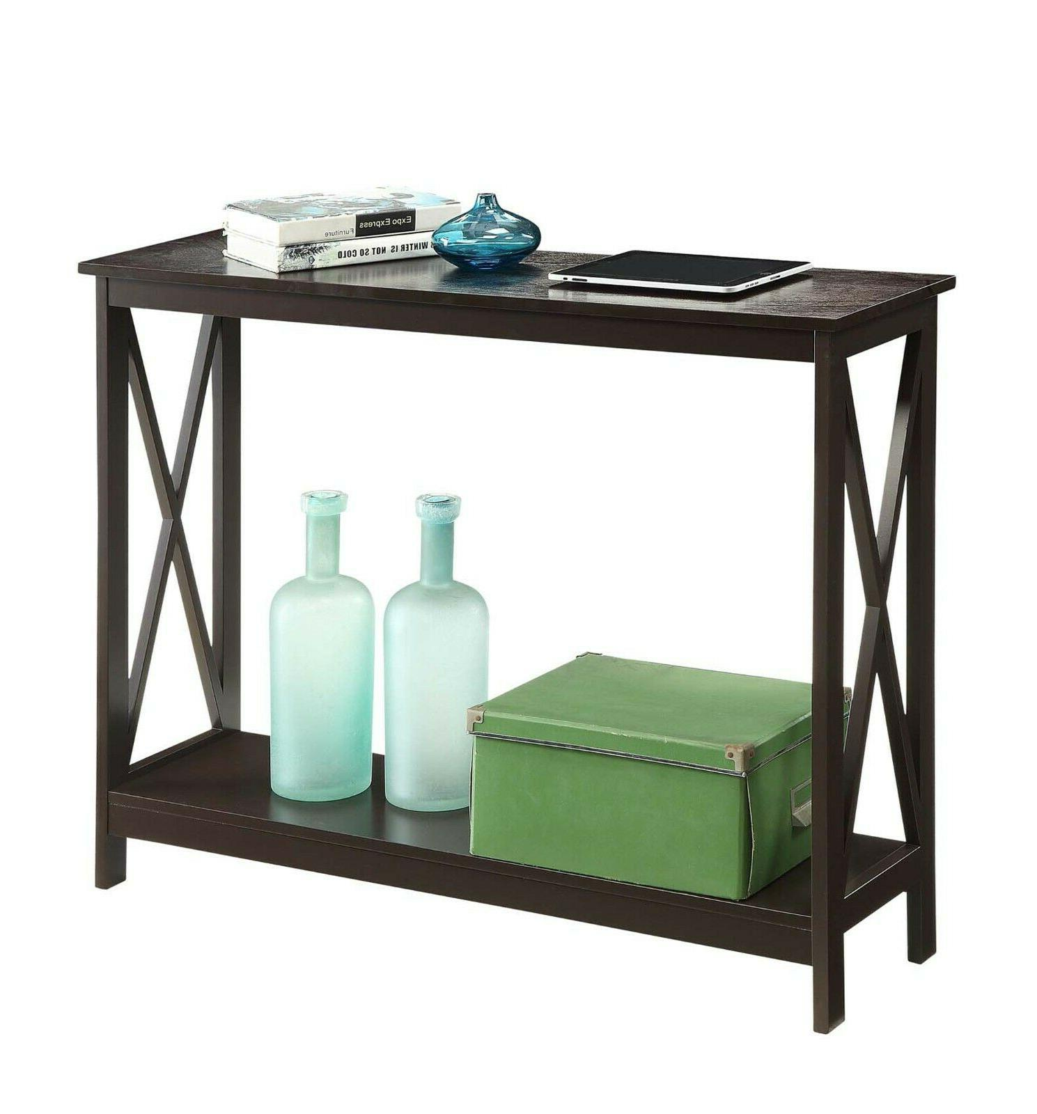 Wood Console Tables Accent Hall Foyer Espresso