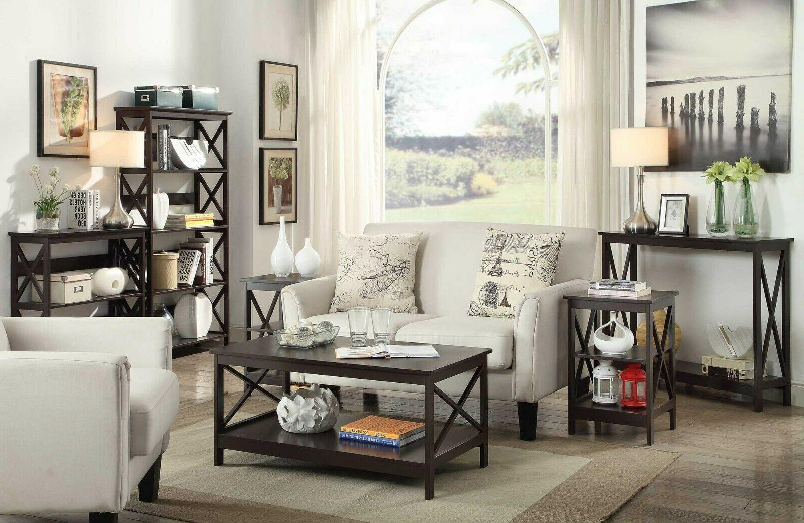 Wood Console Tables Accent Foyer Storage Shelf
