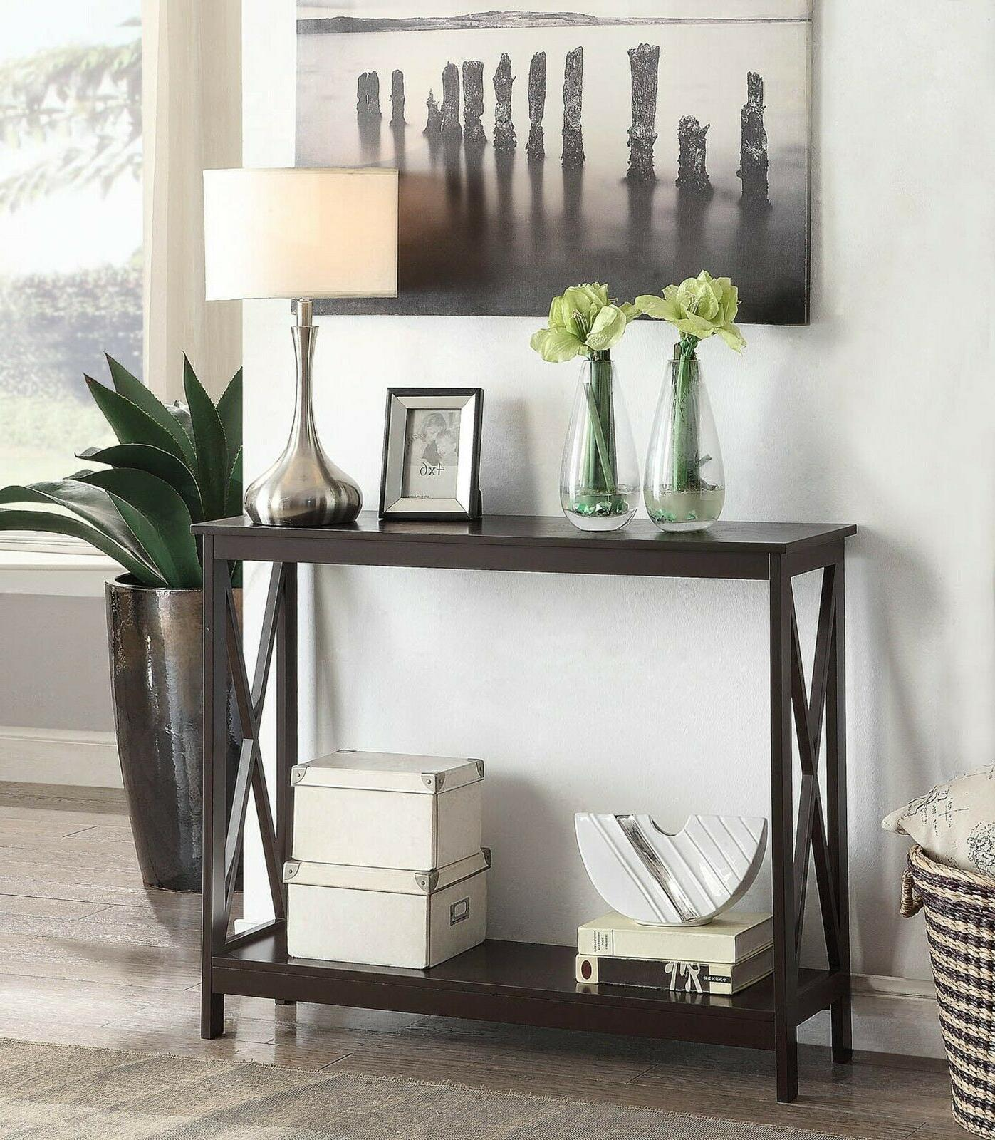 Wood Table Tables Accent Entryway Foyer Shelf