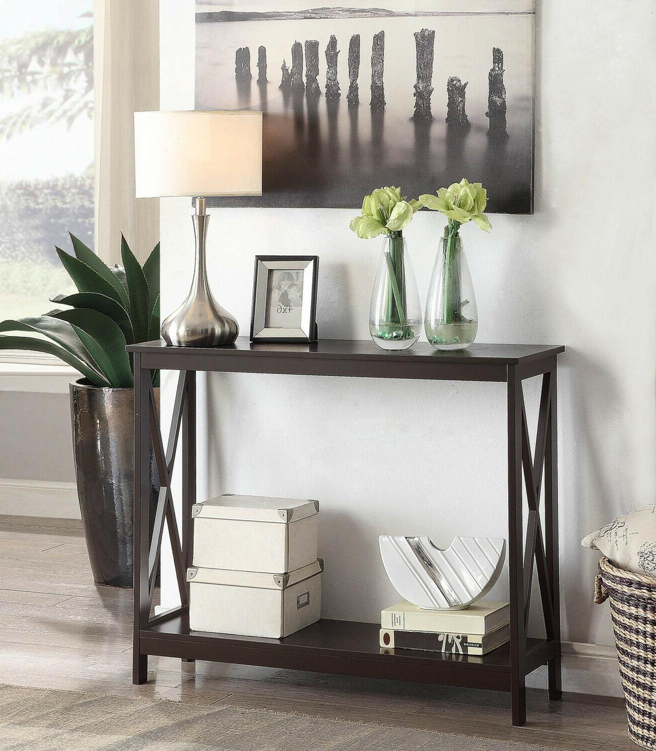 wood console table sofa tables accent entryway