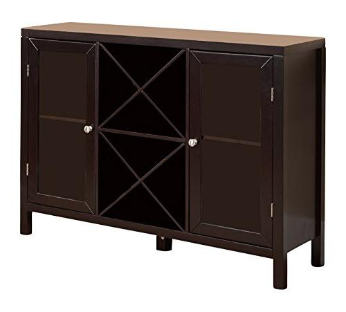 Kings Brand Wine Rack Sideboard Table with