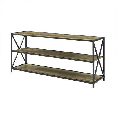 xframe metal wood console table