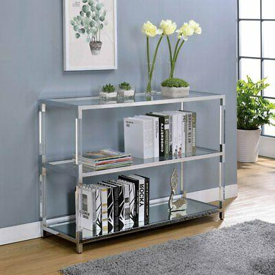 Furniture of America Zoe Faux Lucite Console Table