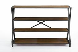 Lancashire Brown Wood and Metal Console Table