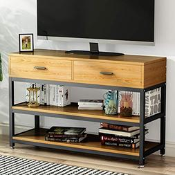 LITTLE TREE TV Stand, Entertainment Center with Two Drawers,