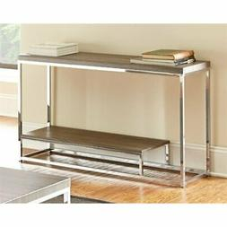 Steve Silver Lucia Sofa Table In Grey & Brown