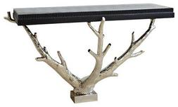 Luxe Modern Silver Tree Branch Console Table   Twig Organic