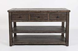 Jofran Madison County Sofa/Media Table - Barnwood/Farmhouse